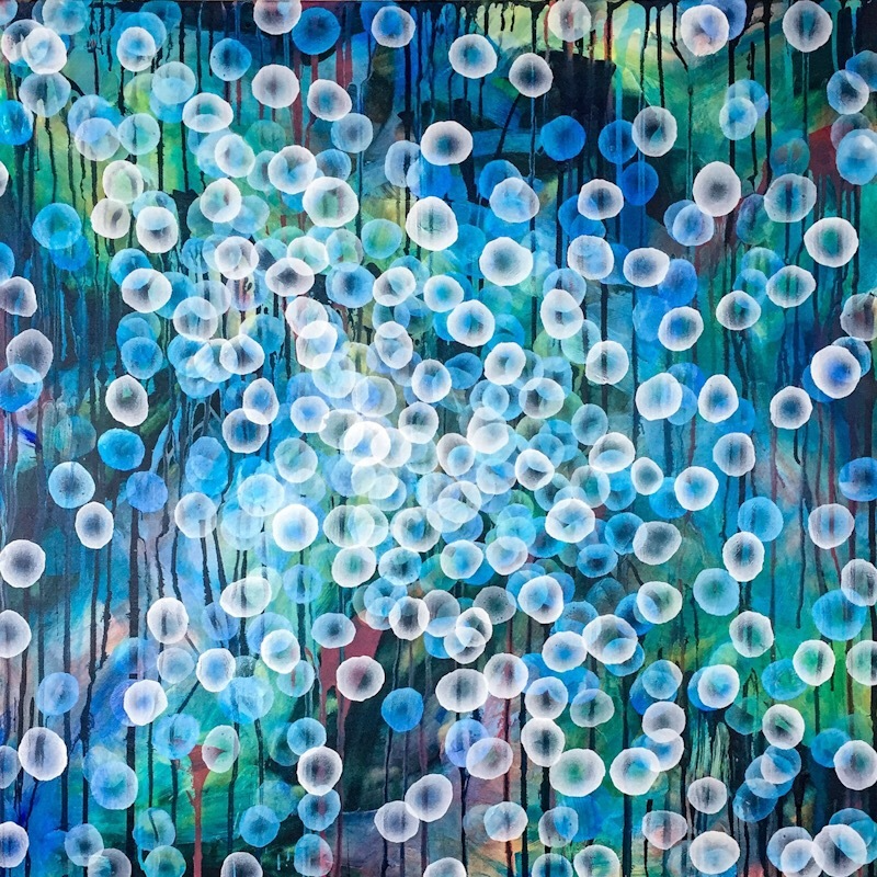 (CreativeWork) Bioluminous Swell III – Large Original Painting by Jacquelyn Stephens. arcylic-painting. Shop online at Bluethumb.