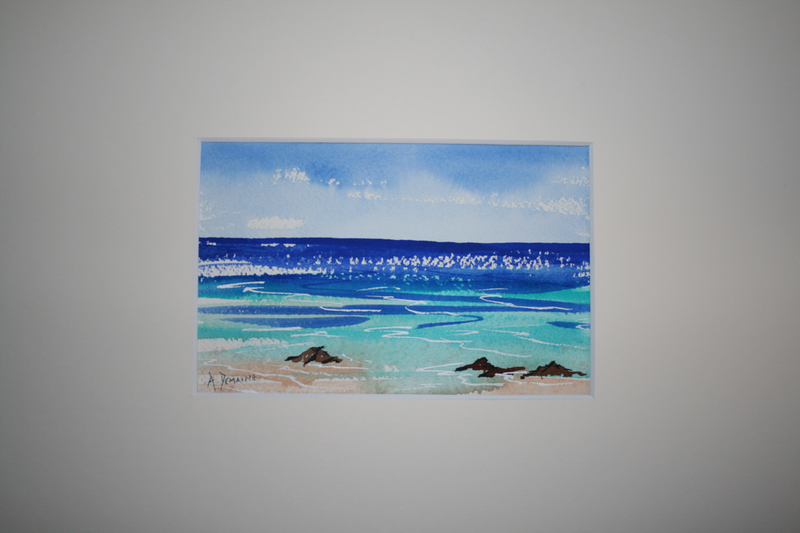 (CreativeWork) South West Beach by Andrew Demaine. Watercolour Paint. Shop online at Bluethumb.