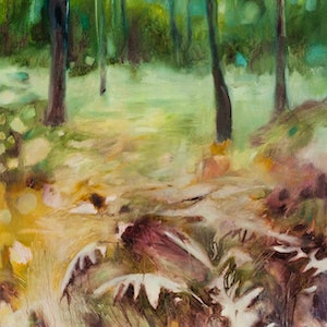 (CreativeWork) Forest junction by Jennifer Prior. oil-painting. Shop online at Bluethumb.
