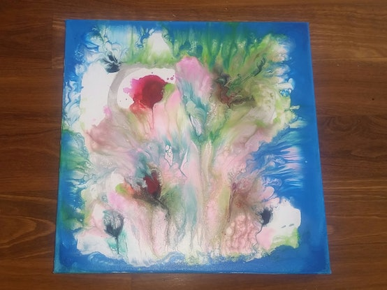 (CreativeWork) Smell the roses by Guy Sohm. Acrylic Paint. Shop online at Bluethumb.