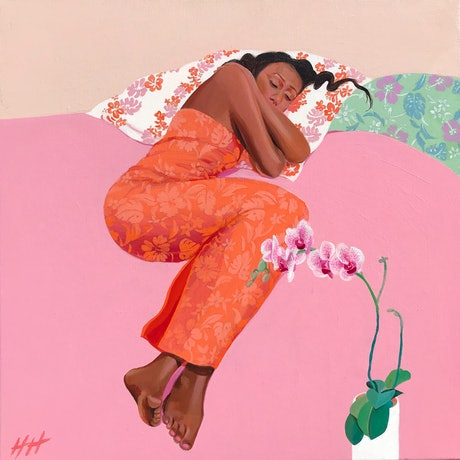 (CreativeWork) PLACE TO REST AND DREAM by Helen Halliday. Acrylic Paint. Shop online at Bluethumb.