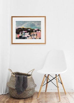 (CreativeWork) When Nancy Came to Stay by Narelle Callen. Acrylic Paint. Shop online at Bluethumb.