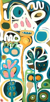 (CreativeWork) Spring Colours I by Sarah Morrow. Acrylic Paint. Shop online at Bluethumb.