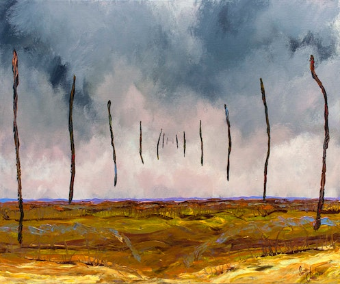 (CreativeWork) Touching Open Country by Scott Jackson. Acrylic Paint. Shop online at Bluethumb.