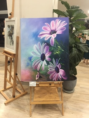 (CreativeWork) spring flowers by David MacNamara. Oil Paint. Shop online at Bluethumb.