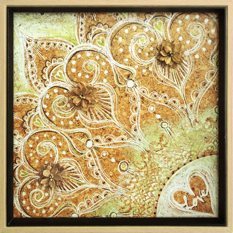 (CreativeWork) CORK Love Lace, in Frame by Nevena Nikolic. Mixed Media. Shop online at Bluethumb.