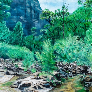 (CreativeWork) Glen Davis Capertee River by Rodney Black. arcylic-painting. Shop online at Bluethumb.