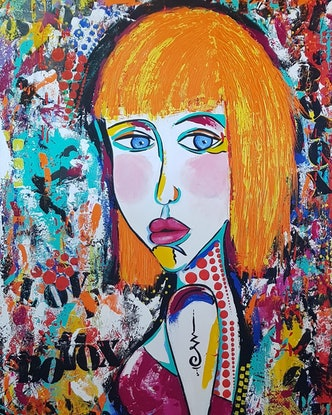(CreativeWork) BOTOX. Her external beauty covers her internal chaos.  by dMilo .. Mixed Media. Shop online at Bluethumb.