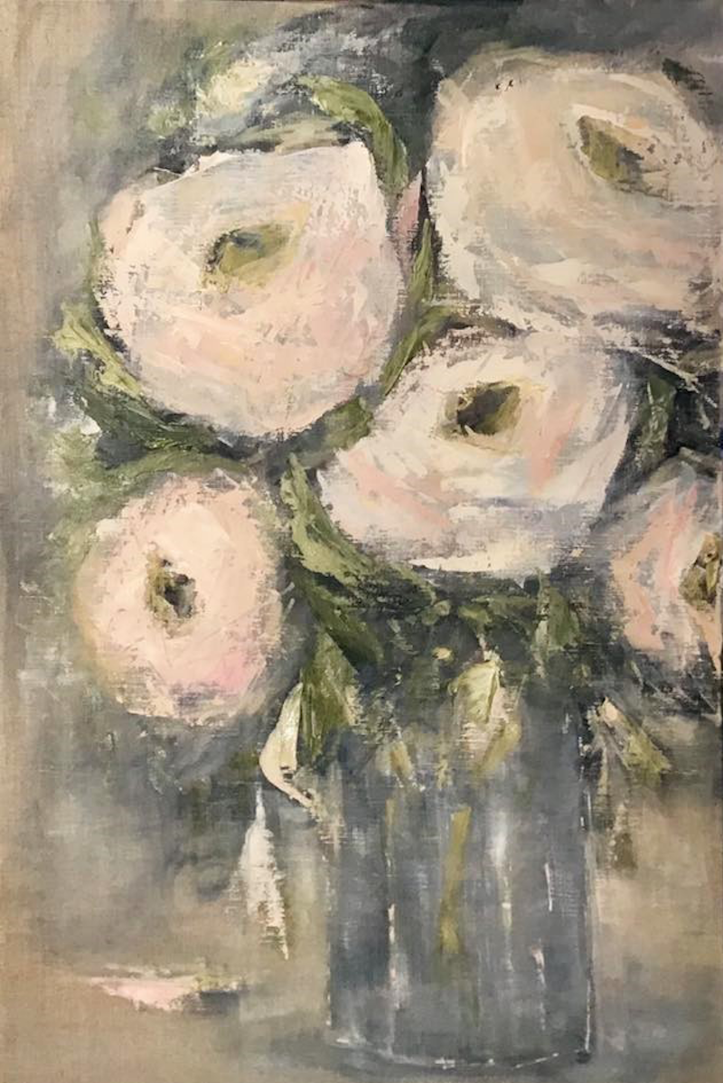 (CreativeWork) Belgian Roses by Marlene Willson. Acrylic Paint. Shop online at Bluethumb.