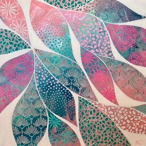 (CreativeWork) Pattern Pods by Rebecca Warr. acrylic-painting. Shop online at Bluethumb.