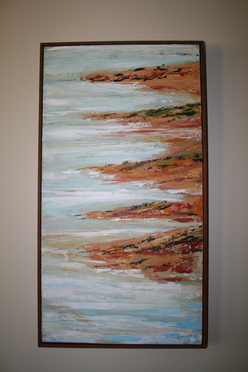 (CreativeWork) Enter the salt lakes at your peril by Andrew Demaine. Acrylic Paint. Shop online at Bluethumb.