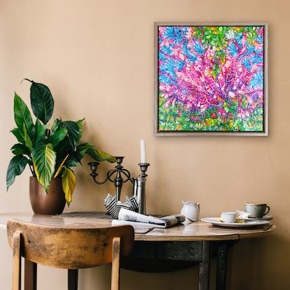 (CreativeWork) Banksia Cuneata (Framed) by Tina Dinte. Acrylic Paint. Shop online at Bluethumb.