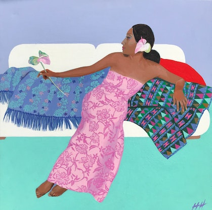 (CreativeWork) NOTHING BUT MEMORY  by Helen Halliday. Acrylic Paint. Shop online at Bluethumb.