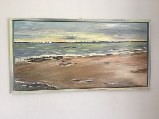 (CreativeWork) A little piece of paradise by Mary Preston. Oil Paint. Shop online at Bluethumb.