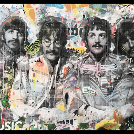 (CreativeWork) Street Icon 154 - Sgt Peppers by Cold Ghost. Mixed Media. Shop online at Bluethumb.