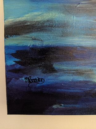(CreativeWork) Ghost ship by Michelle Baxter. Acrylic Paint. Shop online at Bluethumb.