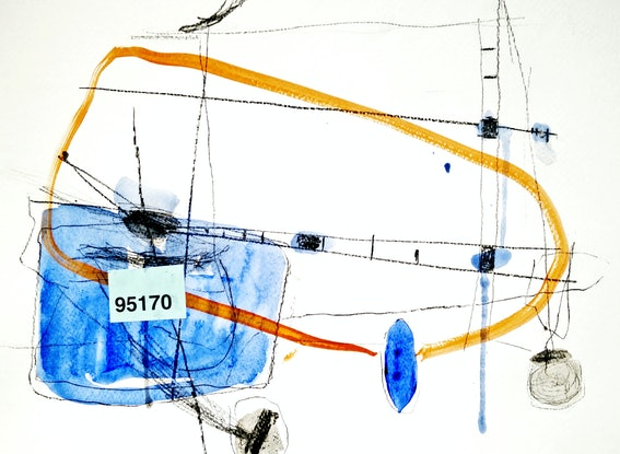 (CreativeWork) 95170. Abstract, Mixed Media, Drawing, Collage, Painting.   by Jenny Davis. Mixed Media. Shop online at Bluethumb.