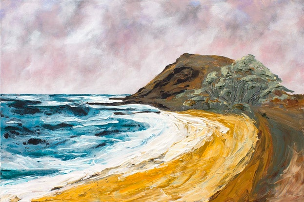 (CreativeWork) The Point ( Crescent Head ) by Scott Jackson. Acrylic Paint. Shop online at Bluethumb.