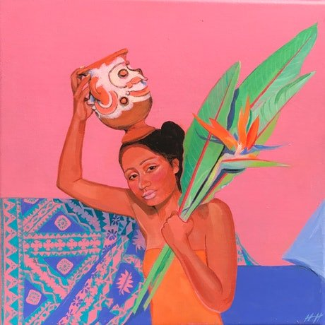 (CreativeWork) WATER CARRIER by Helen Halliday. Acrylic Paint. Shop online at Bluethumb.