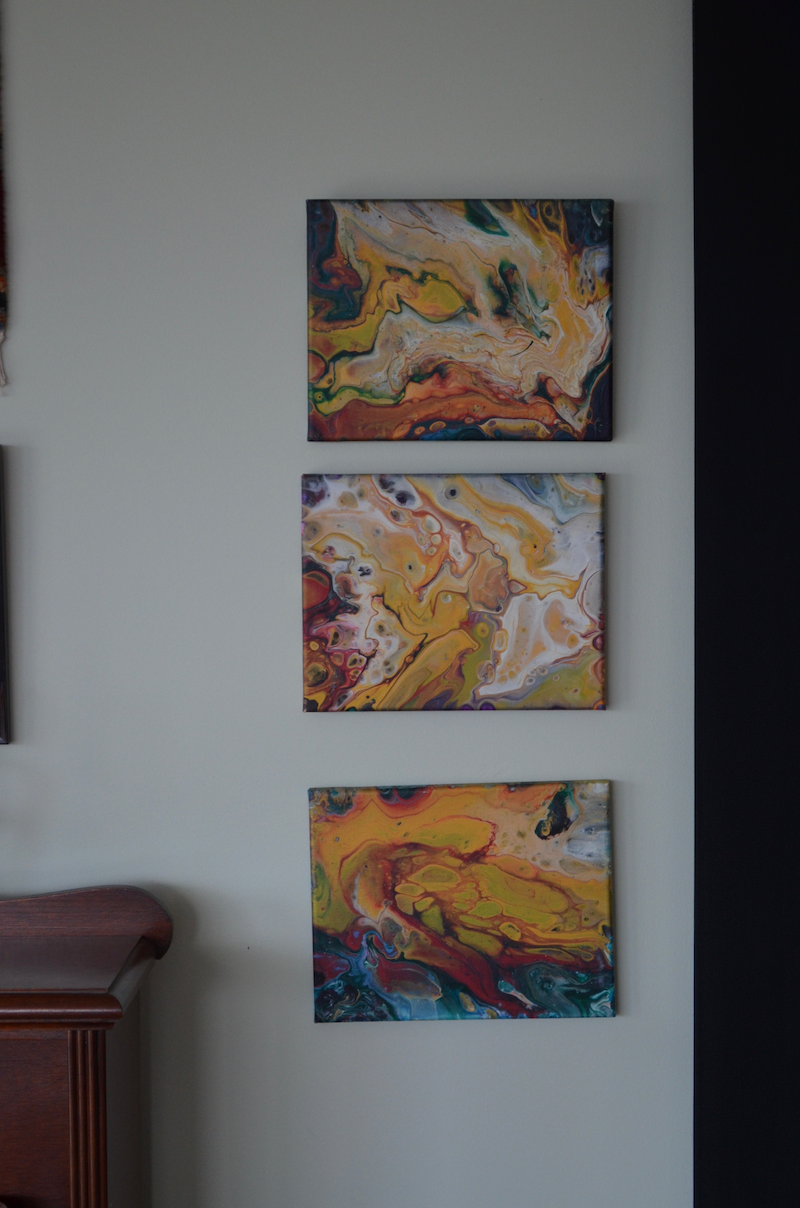 (CreativeWork) Celestial Battle - Series of 3 by Jennifer Lacey. Acrylic Paint. Shop online at Bluethumb.