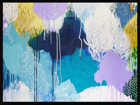 (CreativeWork) The day we found snow  by Clair Bremner. Acrylic Paint. Shop online at Bluethumb.