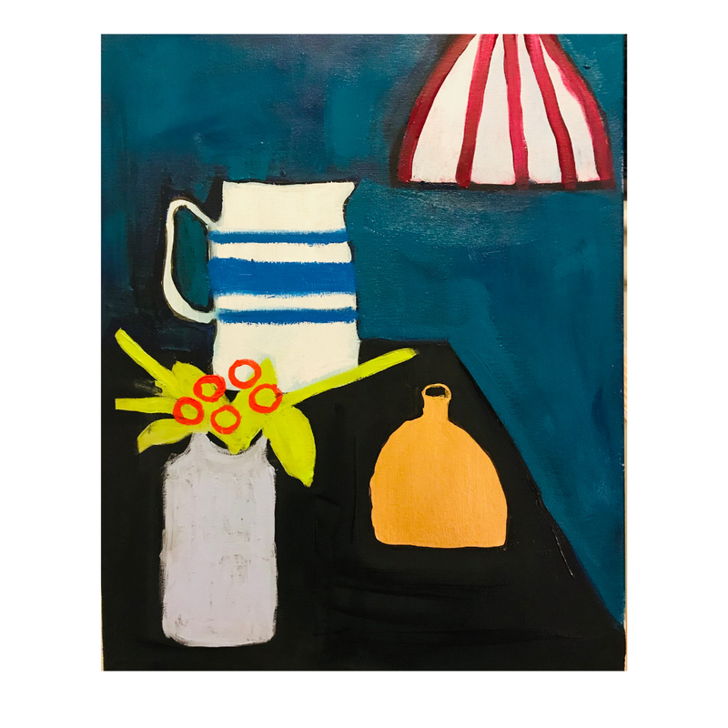 (CreativeWork) Arrangement of Things  by Laura Thomas. Acrylic Paint. Shop online at Bluethumb.