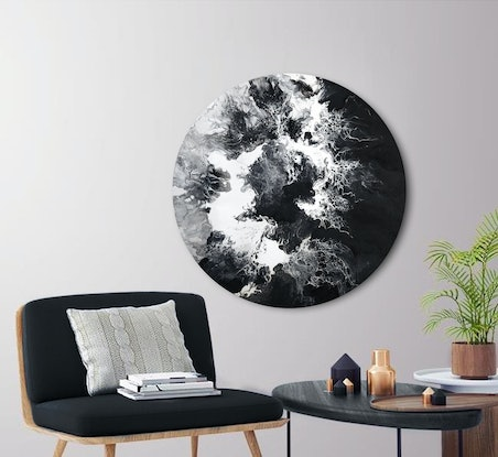 (CreativeWork) Dark Side of the Moon by Brigitte Ackland. Acrylic Paint. Shop online at Bluethumb.