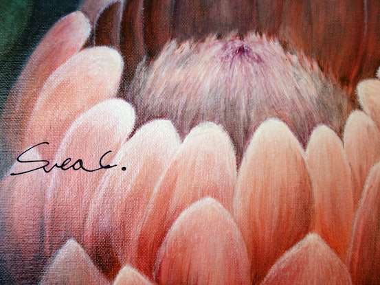 (CreativeWork) The growing by Svea Chang. Acrylic Paint. Shop online at Bluethumb.