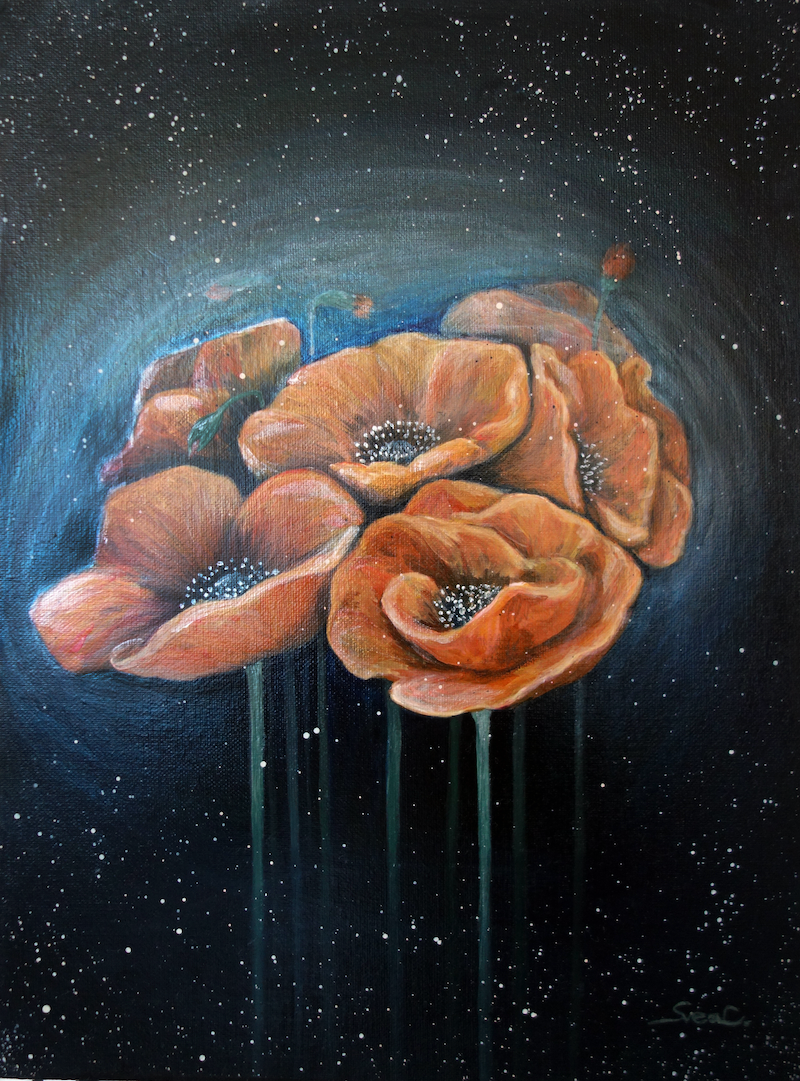 (CreativeWork) The poppy by Svea Chang. Acrylic Paint. Shop online at Bluethumb.