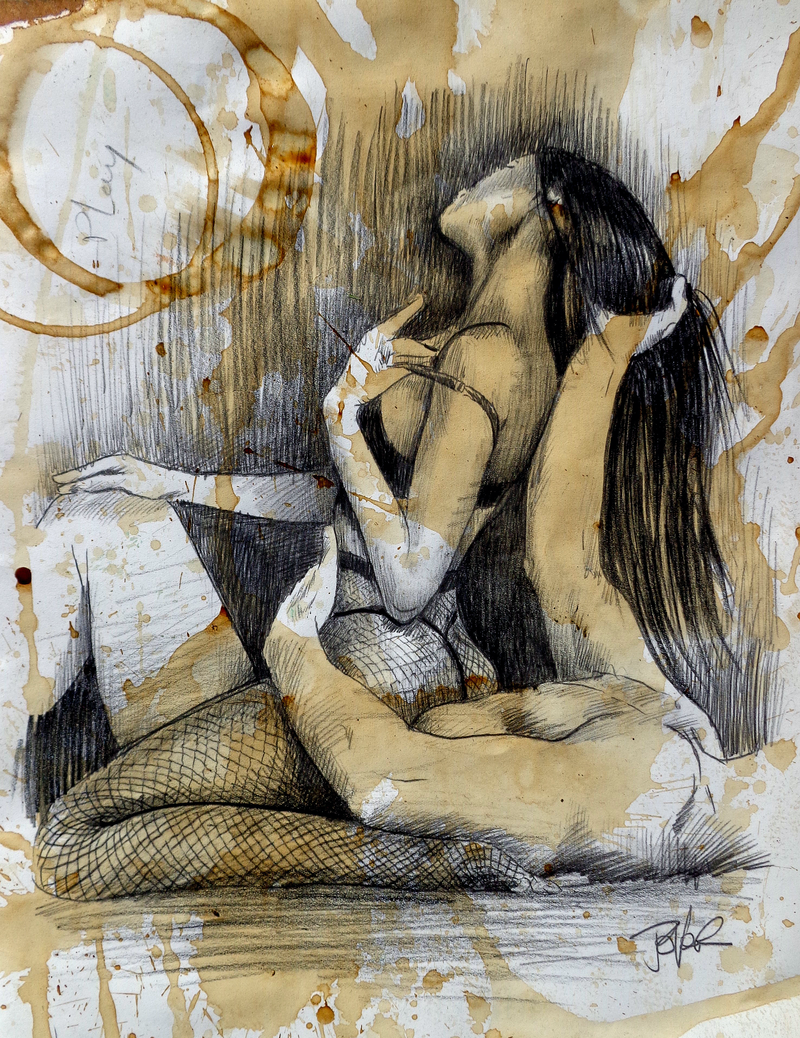 (CreativeWork) PLAY by loui jover. Drawings. Shop online at Bluethumb.