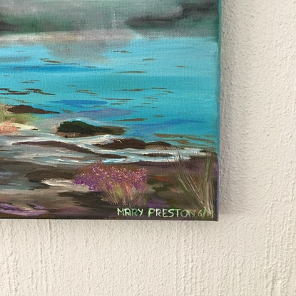 (CreativeWork) Coolest little mountain by Mary Preston. Oil Paint. Shop online at Bluethumb.