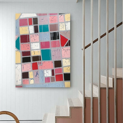 (CreativeWork) ON SALE - Osmond by Melanie Crawford. Acrylic Paint. Shop online at Bluethumb.