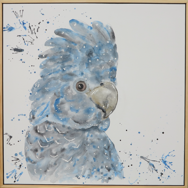 (CreativeWork) Black Cockatoo by Lara Louise Karpeljuk. Watercolour Paint. Shop online at Bluethumb.
