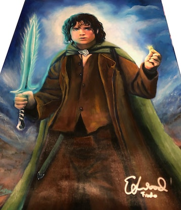 (CreativeWork) Frodo Bagins by Anthony Christou. Acrylic Paint. Shop online at Bluethumb.