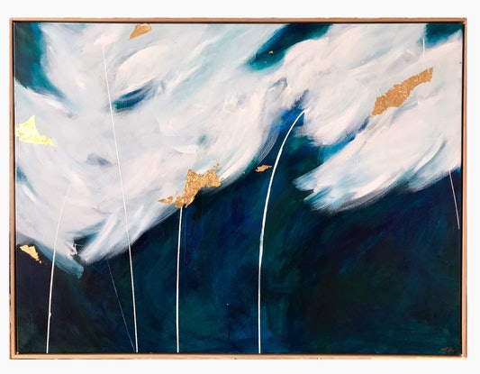 (CreativeWork) Mereweather by Marnie McKnight. Acrylic Paint. Shop online at Bluethumb.