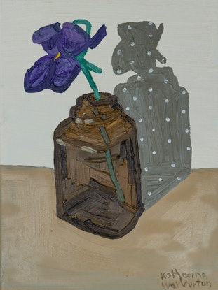 (CreativeWork) Little Violet by Katherine Warburton. Oil Paint. Shop online at Bluethumb.