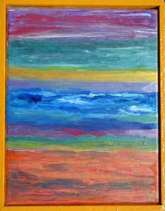 (CreativeWork) Infinite Land by Jennifer Lacey. Acrylic Paint. Shop online at Bluethumb.