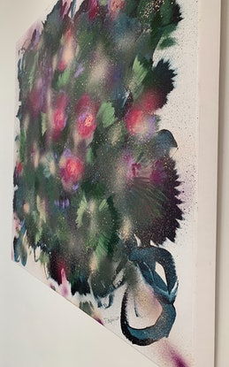 (CreativeWork) Rose Between Two Thorns by Tracy Stephenson. Mixed Media. Shop online at Bluethumb.
