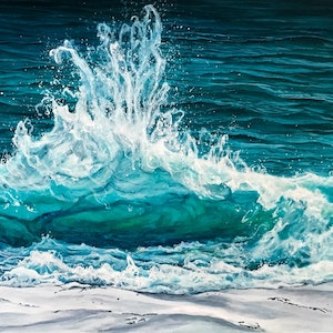(CreativeWork) BACKWASH by Vanessa Mae. acrylic-painting. Shop online at Bluethumb.