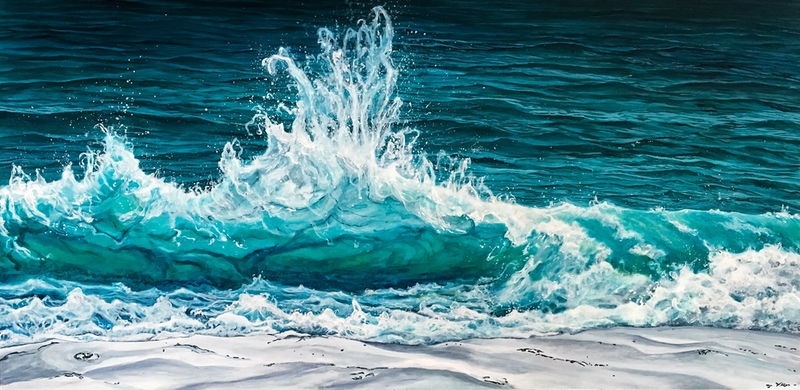 (CreativeWork) BACKWASH by Vanessa Mae. arcylic-painting. Shop online at Bluethumb.