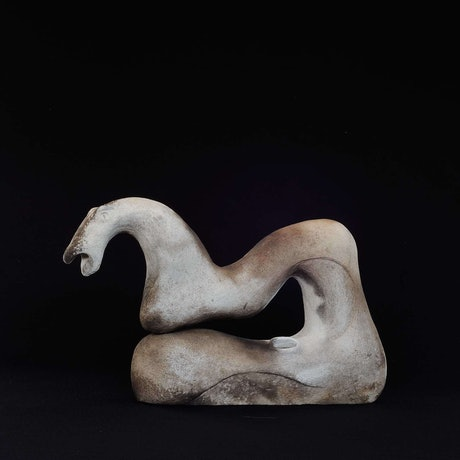 (CreativeWork) Curved Horse by Joanna Wakefield. Other Media. Shop online at Bluethumb.