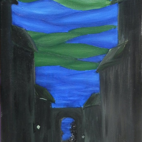 (CreativeWork) City of the mind by Ambra Sandrini. Acrylic Paint. Shop online at Bluethumb.