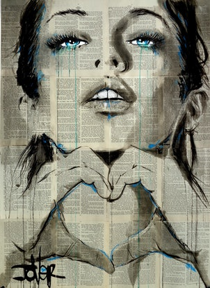 (CreativeWork) ALL YOU NEED IS by loui jover. Drawings. Shop online at Bluethumb.