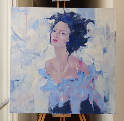 (CreativeWork) Wings by Li Zhou. Oil Paint. Shop online at Bluethumb.