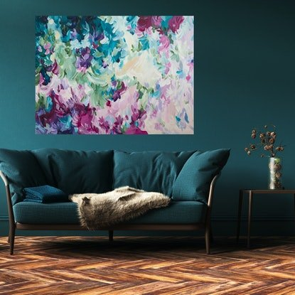 (CreativeWork) Transition of Love by Amber Gittins. Acrylic Paint. Shop online at Bluethumb.