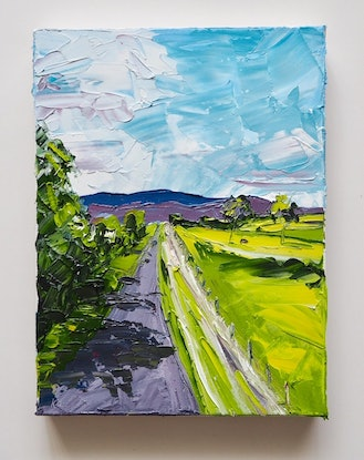 (CreativeWork) Drive Time -Toowoomba Qld  by Michelle Keighley. Oil Paint. Shop online at Bluethumb.