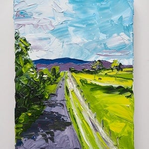 (CreativeWork) Drive Time -Toowoomba Qld  by Michelle Keighley. oil-painting. Shop online at Bluethumb.
