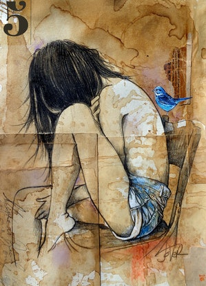 (CreativeWork) REAL REAL by loui jover. Drawings. Shop online at Bluethumb.