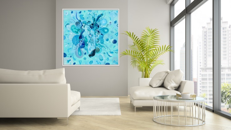 (CreativeWork) Beyond The Blue by Danyal Goodacre. Acrylic Paint. Shop online at Bluethumb.