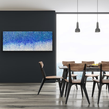 (CreativeWork) Blue Passions by Theo Papathomas. Acrylic Paint. Shop online at Bluethumb.